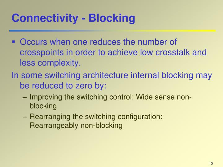 Connectivity - Blocking