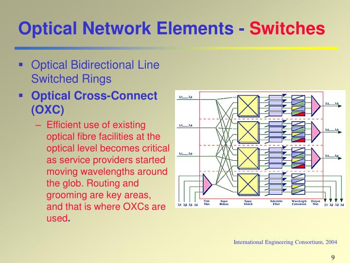 Optical Network Elements -