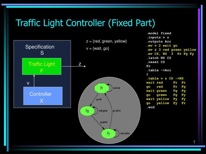 Traffic Light Controller (Fixed Part)