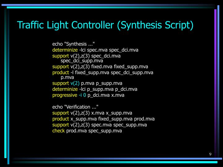 Traffic Light Controller (Synthesis Script)