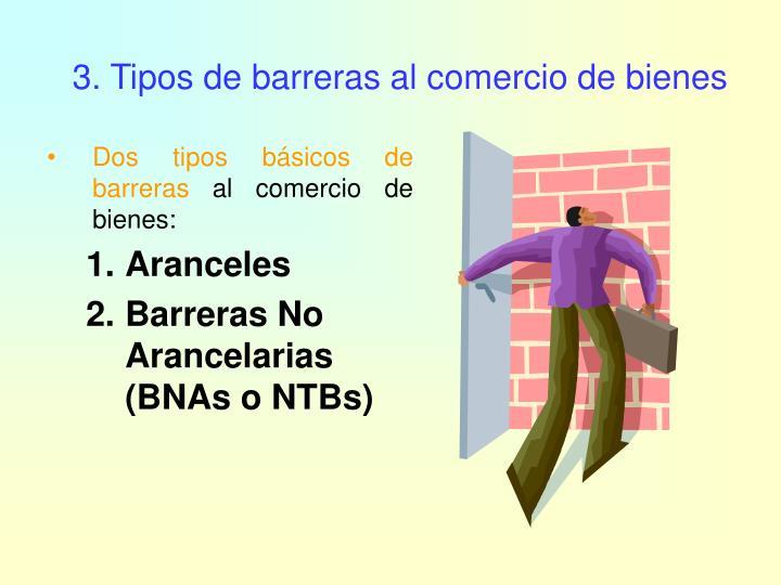 3. Tipos de barreras al comercio de bienes
