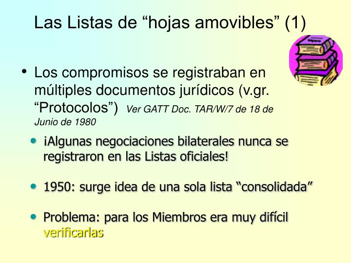 """Las Listas de """"hojas amovibles"""" (1)"""