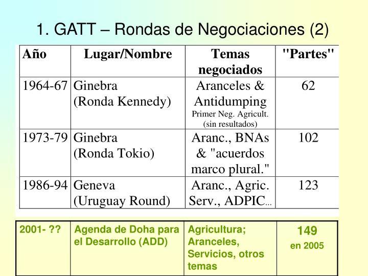 1. GATT – Rondas de Negociaciones (2)