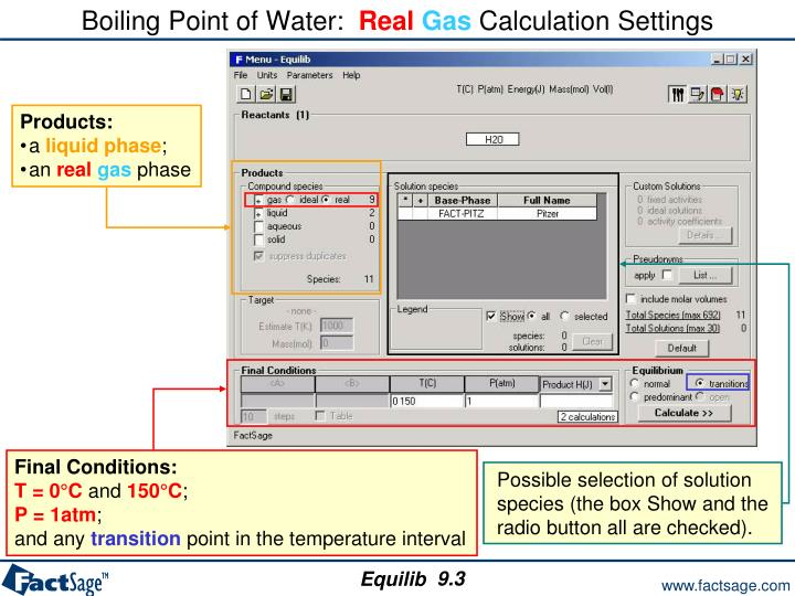 Boiling Point of Water: