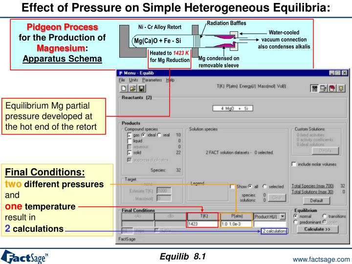 Effect of Pressure on Simple Heterogeneous Equilibria: