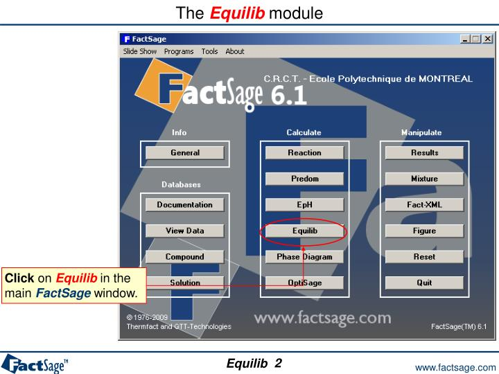 The equilib module1