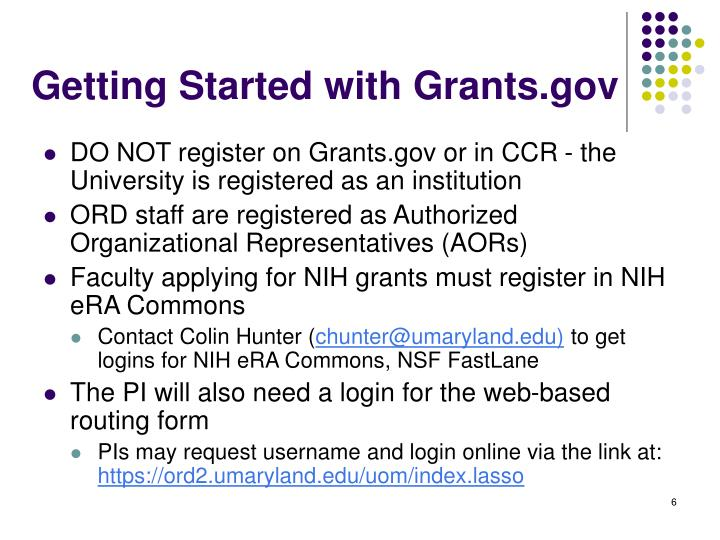 Getting Started with Grants.gov