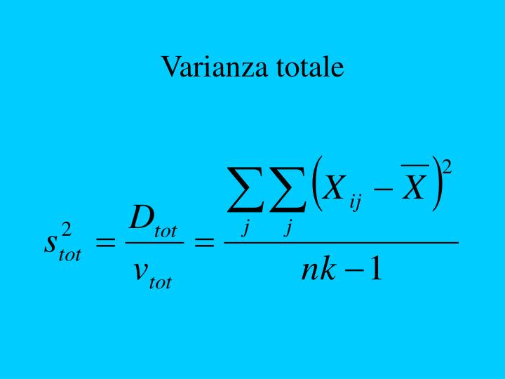 Varianza totale