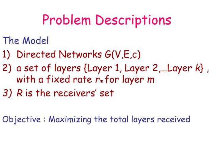Problem Descriptions