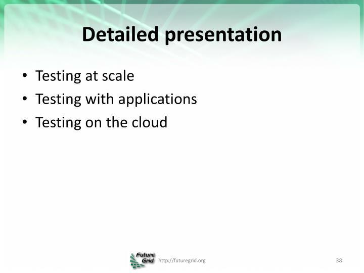 Detailed presentation