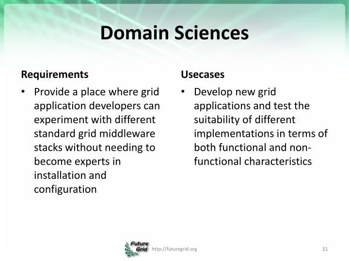 Domain Sciences