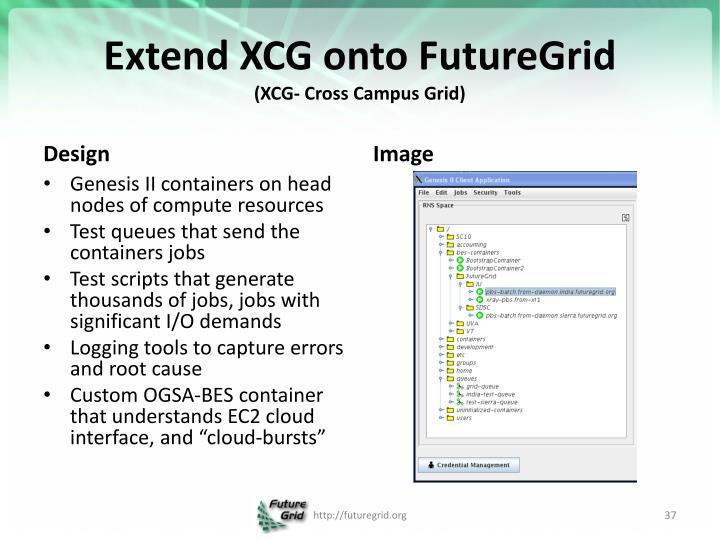 Extend XCG onto
