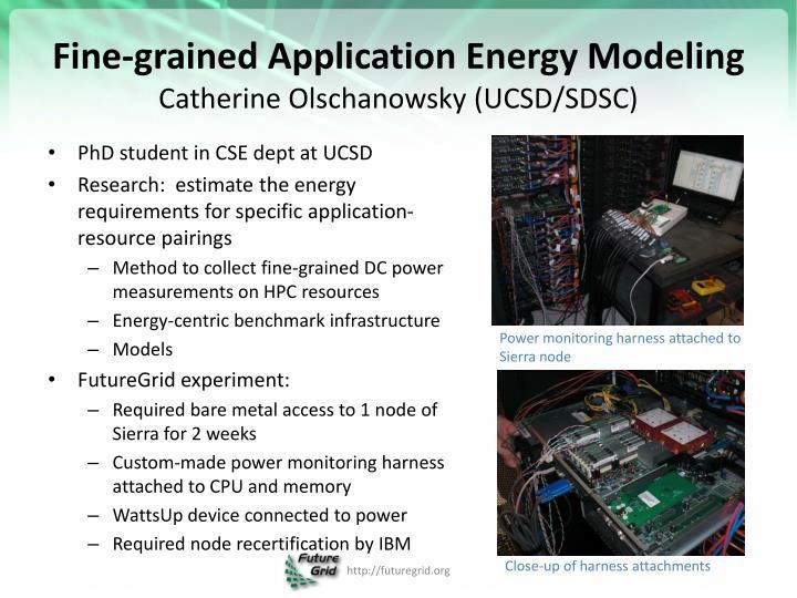 Fine-grained Application Energy Modeling