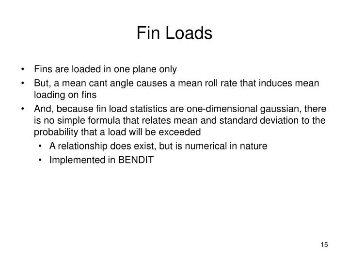 Fin Loads