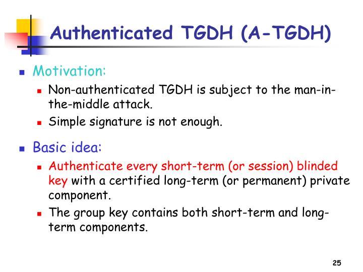 Authenticated TGDH (A-TGDH)