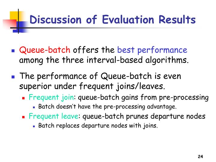 Discussion of Evaluation Results