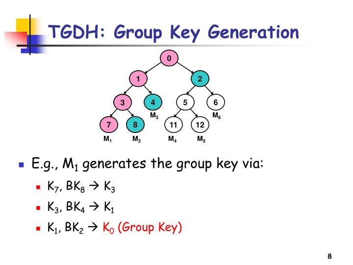 TGDH: Group Key Generation