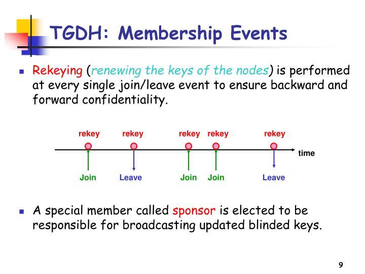 TGDH: Membership Events