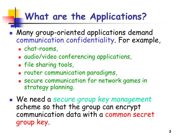 What are the Applications?