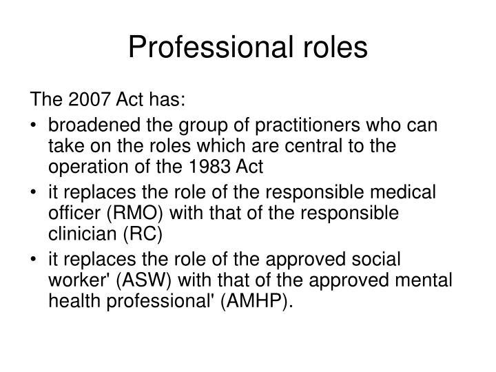 Professional roles