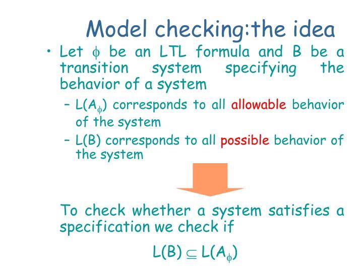 Model checking:the idea