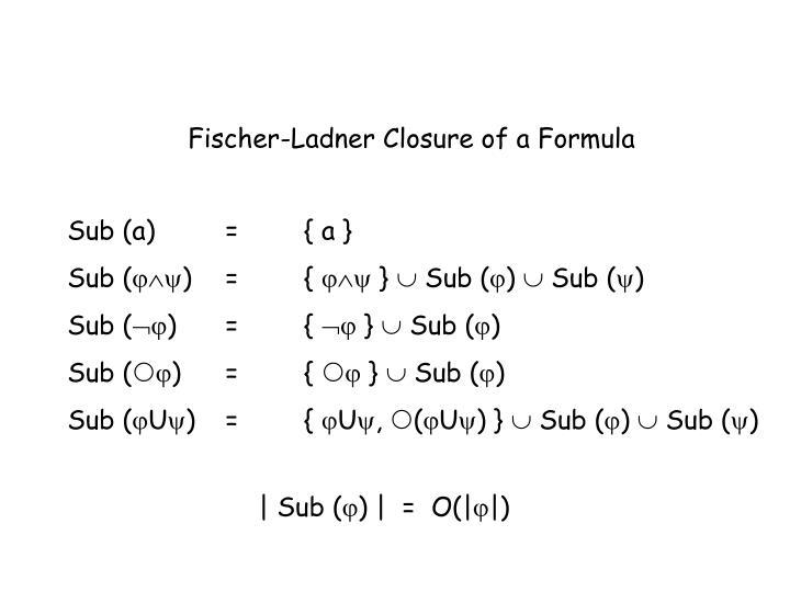 Fischer-Ladner Closure of a Formula