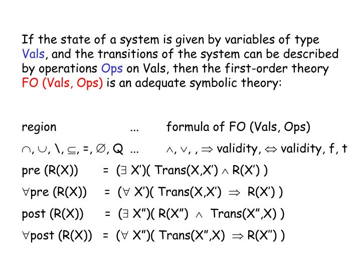 If the state of a system is given by variables of type
