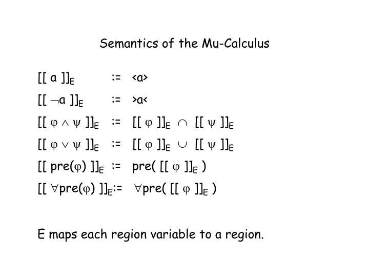 Semantics of the Mu-Calculus