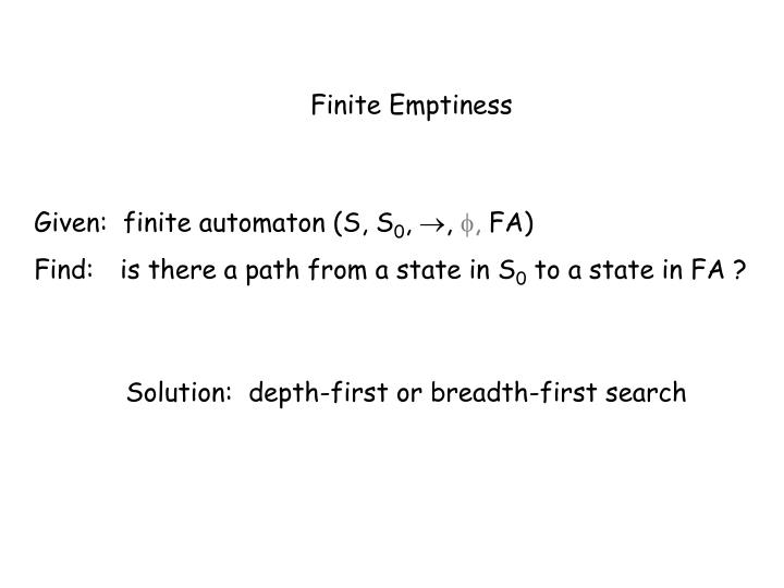 Finite Emptiness