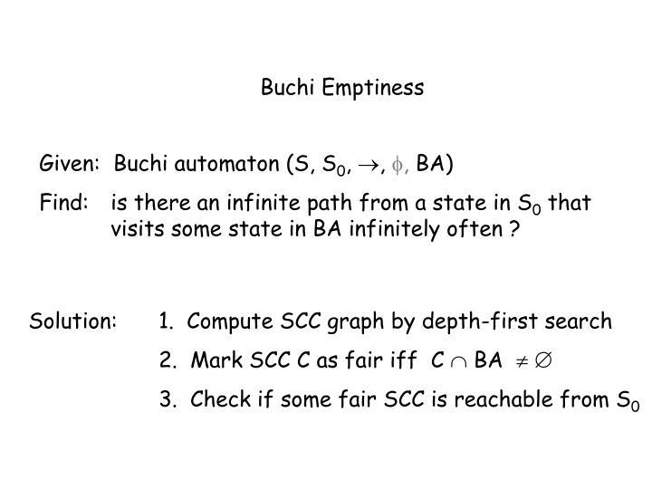 Buchi Emptiness