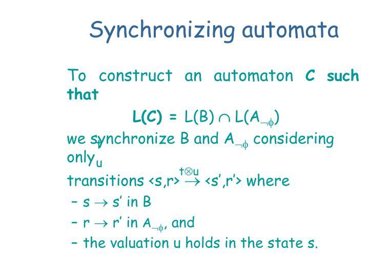 Synchronizing automata