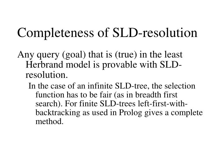 Completeness of SLD-resolution