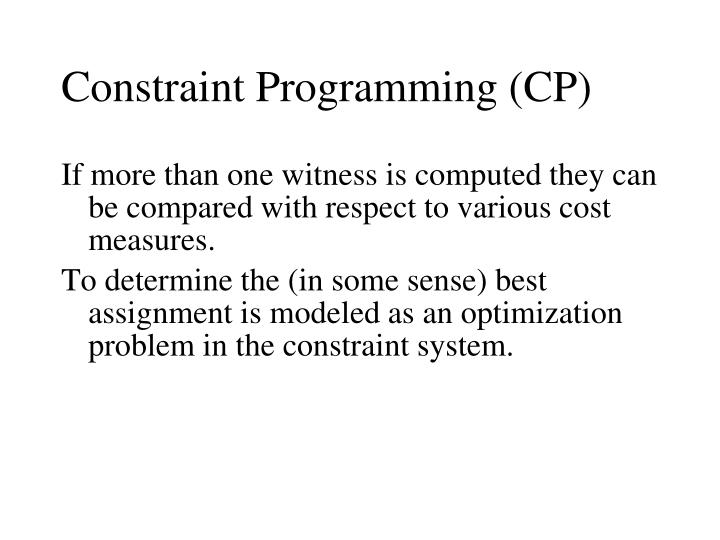 Constraint Programming (CP)