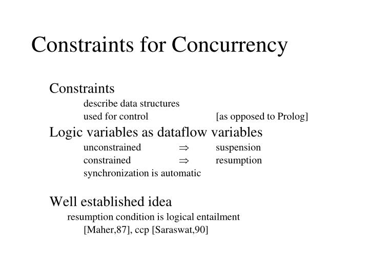 Constraints for Concurrency
