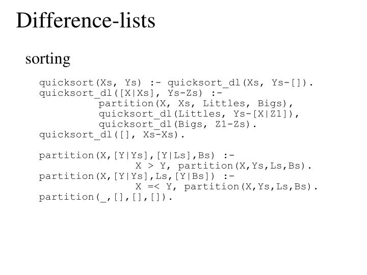 Difference-lists