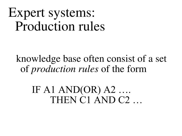 Expert systems: