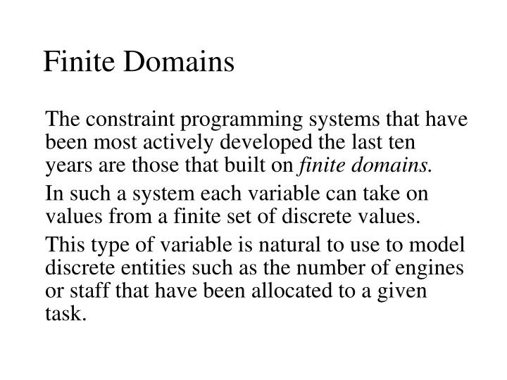 Finite Domains