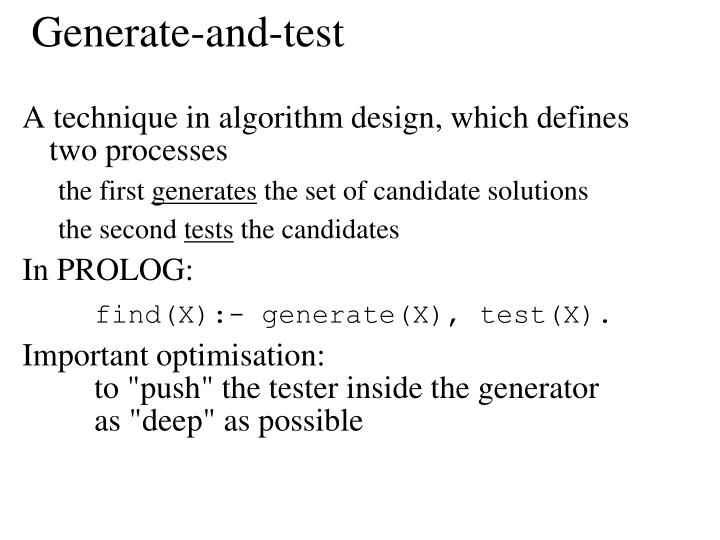 Generate-and-test