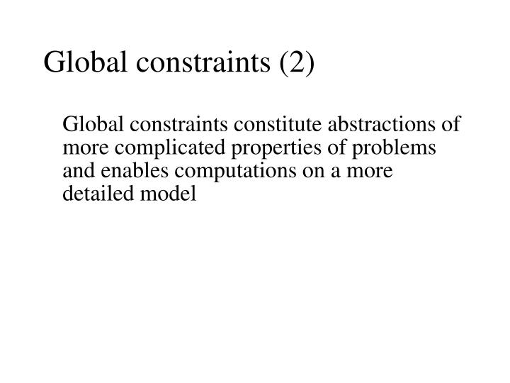 Global constraints (2)