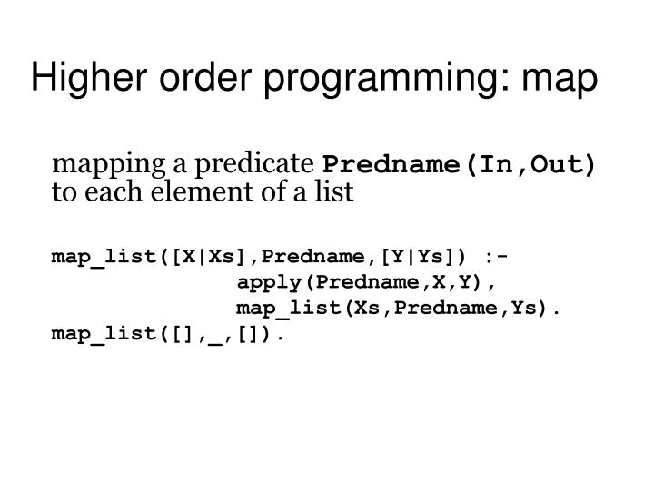 Higher order programming: map
