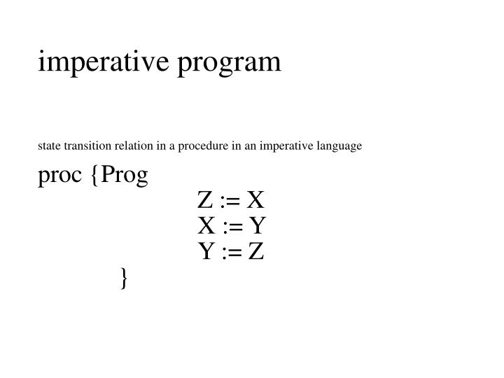 imperative program