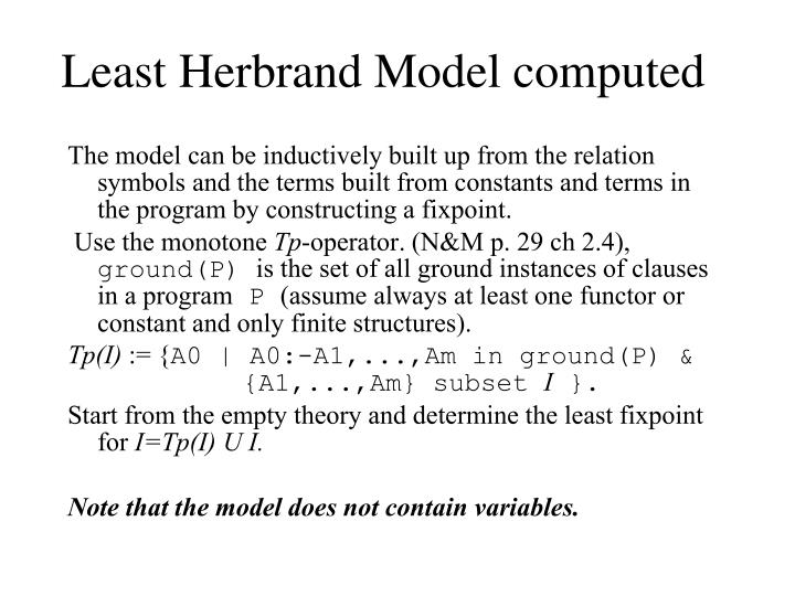 Least Herbrand Model computed
