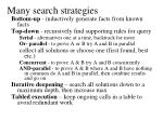 many search strategies
