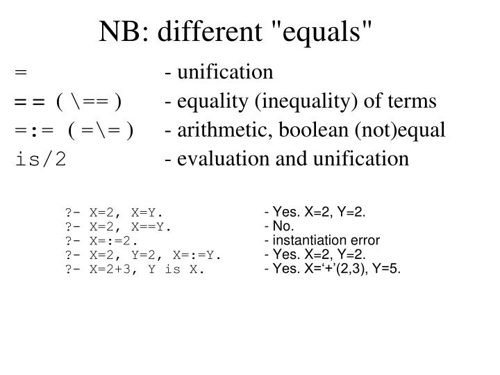 """NB: different """"equals"""""""