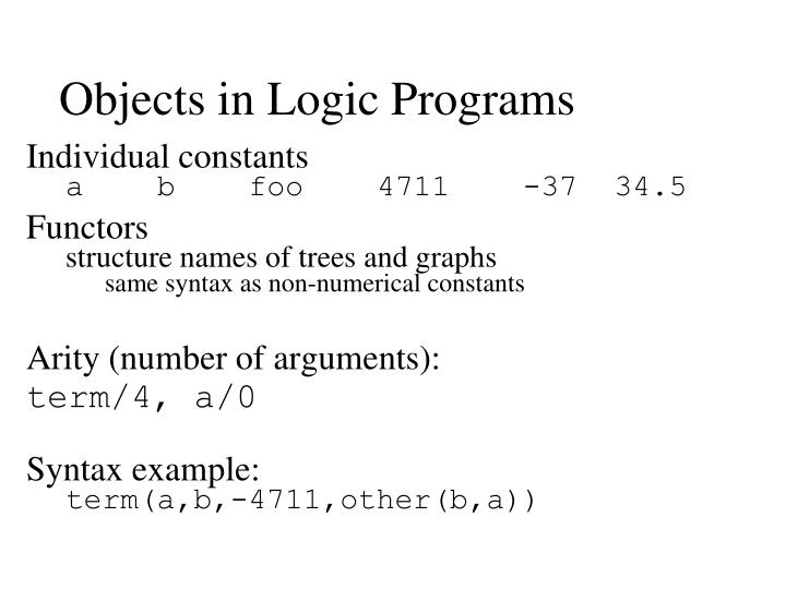 Objects in Logic Programs