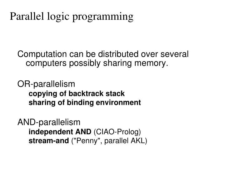 Parallel logic programming