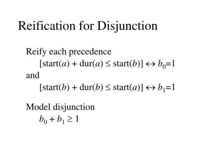 Reification for Disjunction