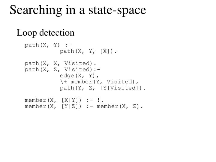 Searching in a state-space