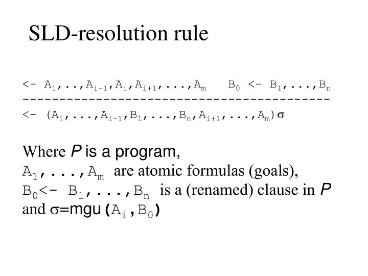 SLD-resolution rule