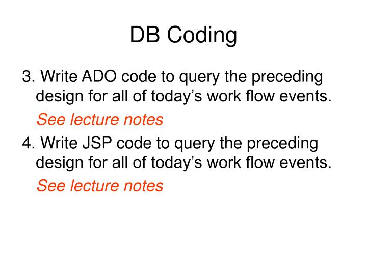 DB Coding